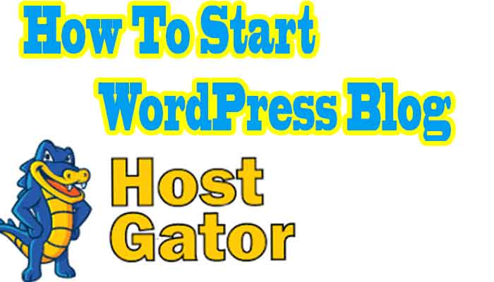 how to start WordPress blog