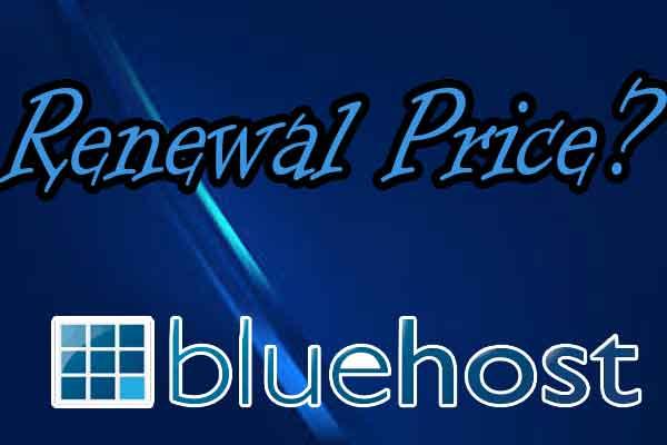 Bluehost Web Hosting Renewal Prices